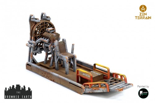 Airboat by Zen Terrain. Model for miniature game. Designed for Drowned Earth.