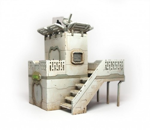 ZEN Terrain Military Outpost wargaming model for skirmish games.